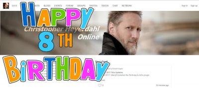 Happy 8th Birthday to christopherheyerdahl.net!